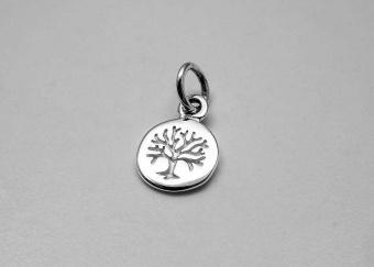 Livets träd, hänge 7mm, silver