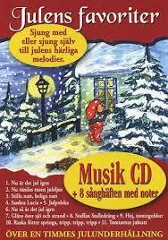 Julens favoriter: Musik CD + 8 sånghäften med noter