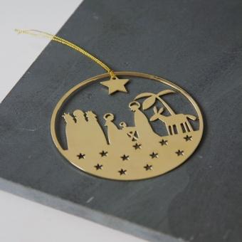 Blankpynt - krubba, guld