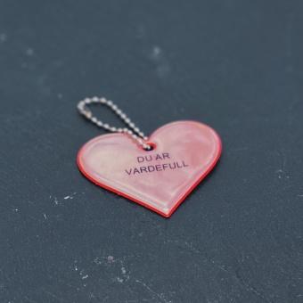 Hjärta med text - du är värdefull