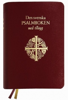 Psalmbok med tillägg, presentpsalmbok liten 92x125mm, guldsnitt (2018)