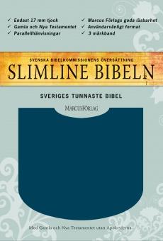 Bibel, slimline, mörkblå, utan apokryferna