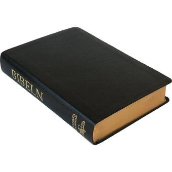 Folkbibeln 2015, äkta skinn, svart, 155x232 mm
