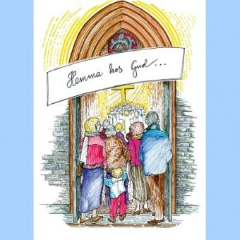 Hemma hos Gud - målarbok