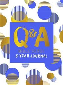 Q & A Bible Verse 5-Year Journal Blue Edition