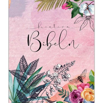 Kreativ Bibel i rosa hårdpärm