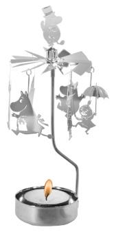 Änglaspel med mumin-motiv, silver, inkl. värmeljus