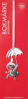 My med paraply, silverfärgad metall