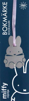 Bokmärke Miffy silver
