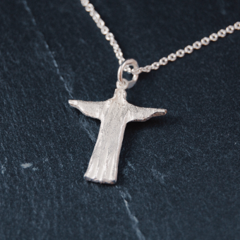 Kristus, segrande, silver 2 cm