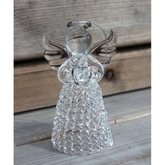 Glasänglar, kristall 3-pack Att ställa eller hänga
