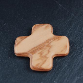 Enkelt kors, olivträ från Nasaret