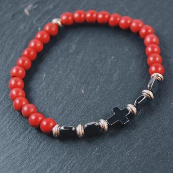 i79 Röda pärlor och hematit