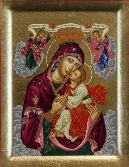 Maria: Gudsmoders ömma kyss (Glykofilousa) - krönt