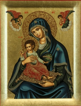 Maria: Gudsmoder håller barnet (Brefokratousa)