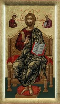Kristus tronande (pantokrator helfigur)