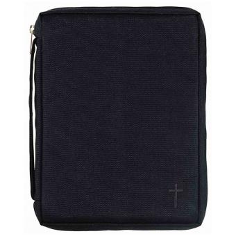 Bibelfodral med kors, svart