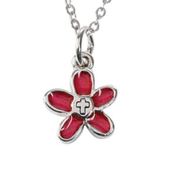 Blomma med kors, tenn, 10mm