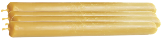 Fyra antikljus, honungsgula
