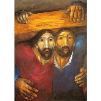 Jesus och Simon från Kyrene