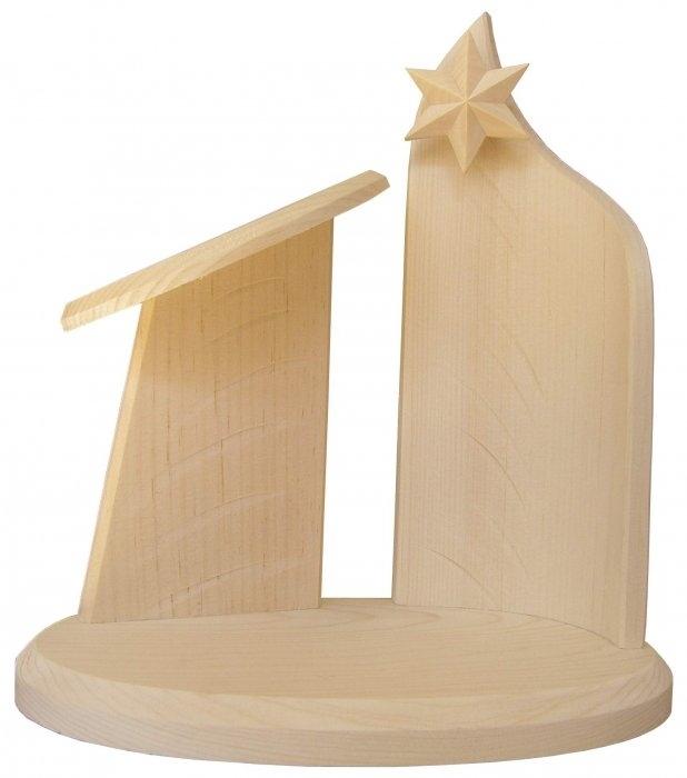 Stall för 4-6 cm figurer, massivt obehandlat trä