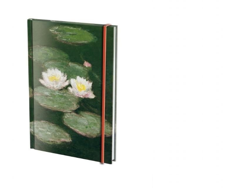 Claude Monet, blank/linjerad A5, m. snodd