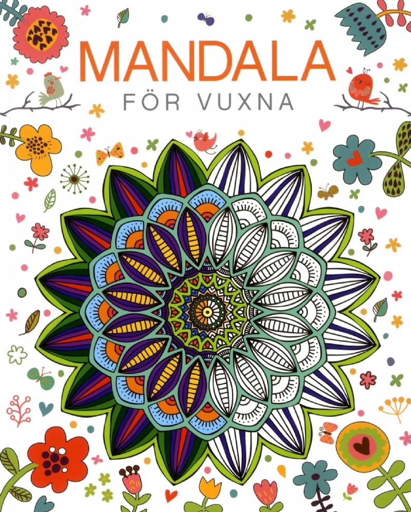Mandala för vuxna (målarbok)