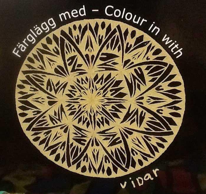 Färglägg med Vidar - Colour in with Vidar