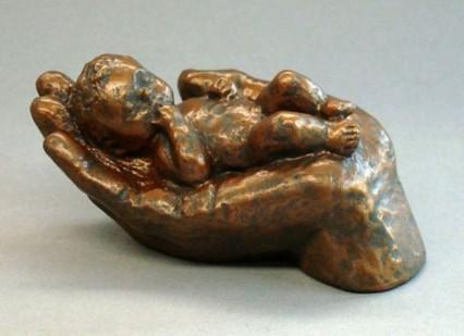Gentleness, brons h. 9 cm