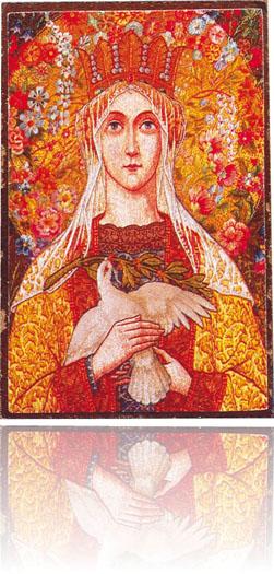 Vår fru av fred, 7x9cm
