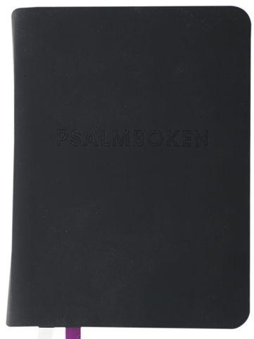Psalmbok med tillägg, gummiomslag, 92x125mm, svart (2018)