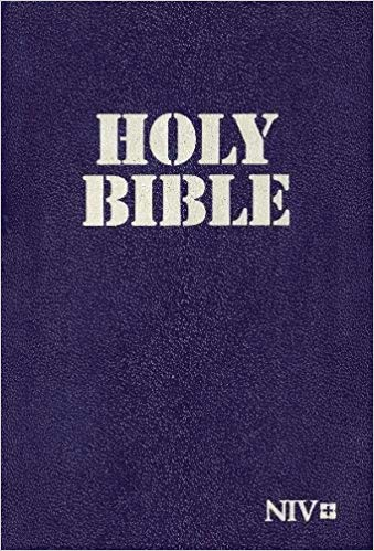NIV,Holy Bible,Paperback,Navy, Military edition
