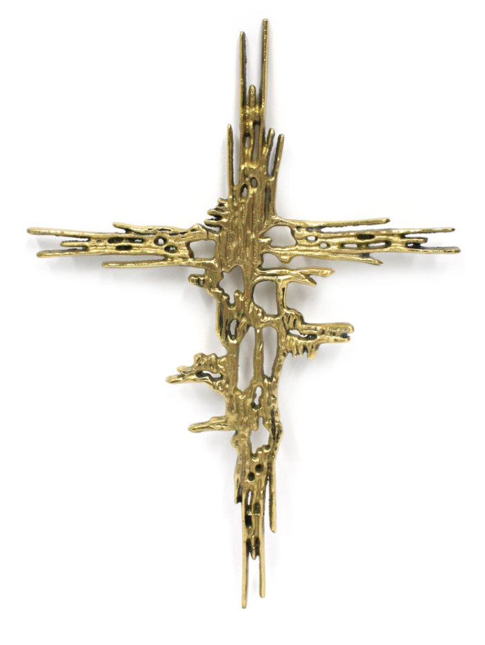 Kors i mässing, 32cm