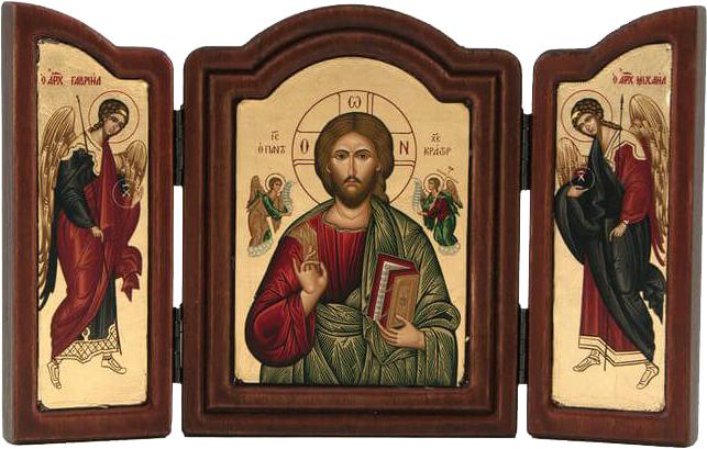 Triptyk Kristus Allhärskaren från Chrysopigi