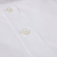Shirt, Classic satin stretch white
