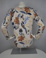 Pullover brunmönstrad