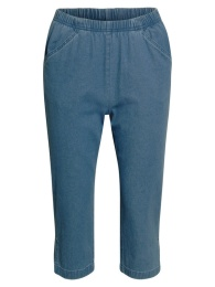 Capribyxor, light blue denim