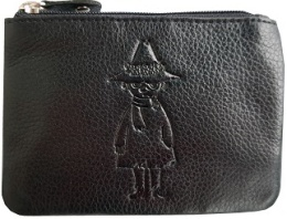 Mumin leather coin wallets black