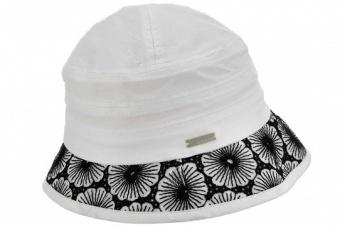 Hatt m brätte vit/svart