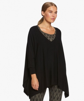 Top Fosna 3/4 sleeve black