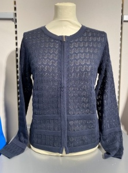Cardigan-knit Light navy