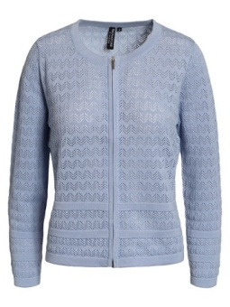 Cardigan-knit Light cashmere blue