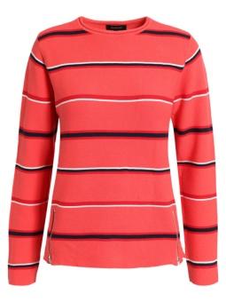 Pullover bomull rödmönstrad