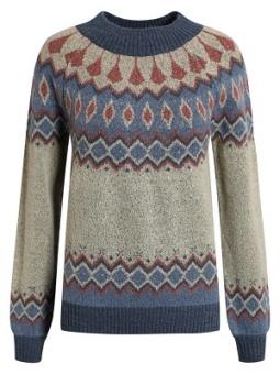 Pullover gråmönstrad