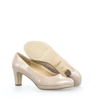 Gabor Pumps hög klack beige co