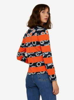 Oleana Darling buds cardigan signal orange