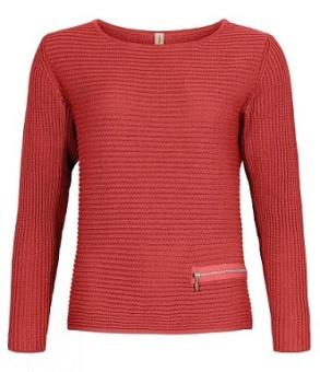 Jumper organic cotton brick red