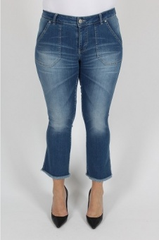 Jeans Como Flare blue wash