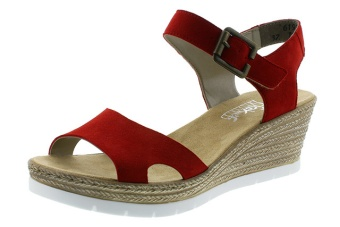 Rieker sandal röd Vidd F 1/2