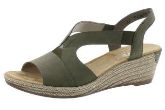 Rieker sandalett grön Vidd F 1/2